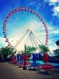 Ferris wheel after rain